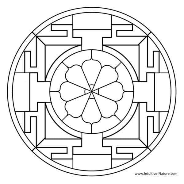 Intuitive Nature - Mandala Image
