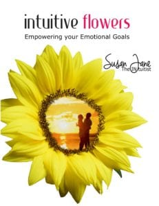 Intuitive Sunflower with embracing couple on the book front cover